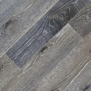 Паркетная доска Fine Art Floors Дуб Stratus Black браш лак 1-полосная 600-1900 х 150 х 15 мм gloss 10%