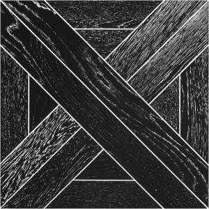 Модульный паркет Marco Ferutti Linea Дуб Неро браш лак 405 x 405 x 15