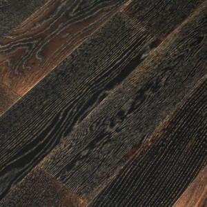 Паркетная доска Wood Bee Дуб Antik Black браш лак 1-полосная 1860 x 189 x 15 мм