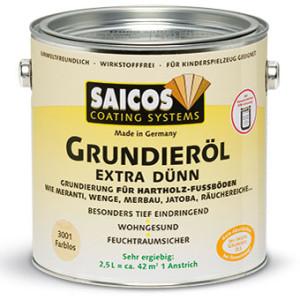 Грунтовка на основе масла для твердых и экзотических пород Saicos Extra Dunn Grundierol