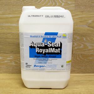 """2-х компонентный полиуретановый лак, сохраняющий естественный тон древесины """"Berger Aqua-Seal RoyalMat"""""""