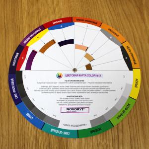 Цветовая карта COLOR-MIX для подбора цветовых сочетаний NOVORYT