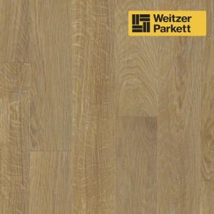 Двухслойный паркет Weitzer Parkett  WP 4100 Австрия Дуб Миндаль select, gefast , geburstet с фаской, брашированный  ProVital f