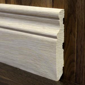 Фигурный массивный плинтус дуб 100×15мм