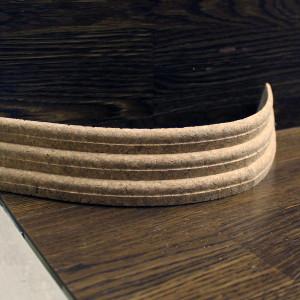 Гибкий пробковый плинтус 45×18мм