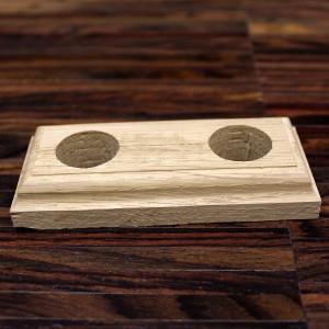 Массивная деревянная двойная манжета для труб