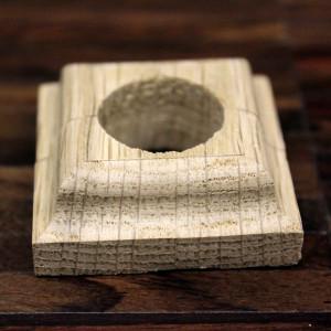 Массивная деревянная одинарная манжета для труб
