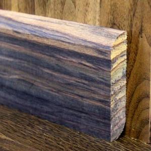 Массивный двусторонний плинтус палисандр 70×15мм