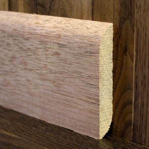 Массивный плинтус прямой двусторонний мербау 90×15мм