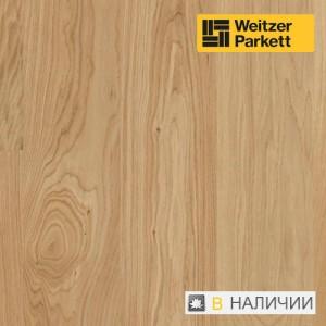 Однополосная паркетная доска со звукопоглощающей прослойкой Weitzer Parkett 2.224 Австрия Дуб селект gefast с фаской ProActive