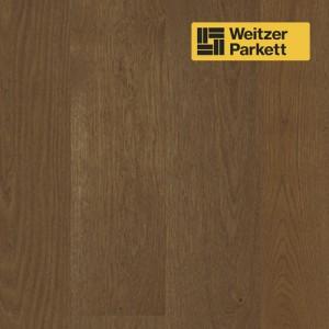 Однополосная паркетная доска со звукопоглощающим слоем Weitzer Parkett 2.224 Австрия Дуб Гавана селект gefast с фаской ProActive