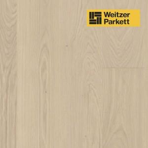 Однополосная паркетная доска со звукопоглощающим слоем Weitzer Parkett 2.224 Австрия Дуб Кашемир селект gefast с фаской ProActive