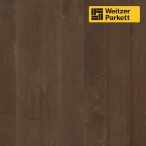 Однополосная паркетная доска Weitzer Parkett Langdiele Австрия Дуб Черный Перец маркант gefast geburstet с фаской, брашированный ProVital f