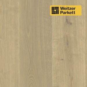 Однополосная паркетная доска Weitzer Parkett Langdiele Австрия Дуб Имбирь маркант gefast geburstet с фаской, брашированный ProVital f