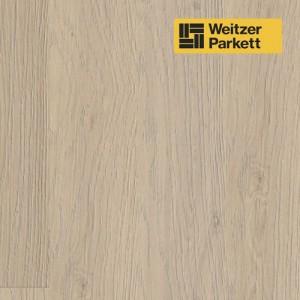 Однополосная паркетная доска Weitzer Parkett Langdiele Австрия Дуб Кашемир маркант gefast geburstet с фаской, брашированный ProVital f