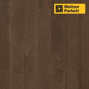 Однополосная паркетная доска Weitzer Parkett Quadra Австрия Дуб Черный Перец спектрум gefast geburstet с фаской, брашированный ProVital f