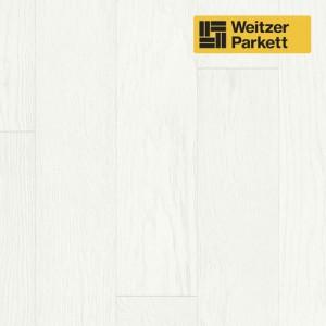 Однополосная паркетная доска Weitzer Parkett Quadra Австрия Дуб Кокос спектрум gefast, geburstet с фаской, брашированный ProActive
