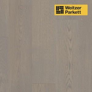 Однополосная паркетная доска Weitzer Parkett Quadra Австрия Дуб Taupe селект gefast geburstet с фаской, брашированный ProVital f