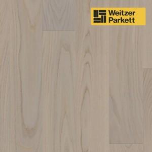 Однополосная паркетная доска Weitzer Parkett Quadra Австрия Дуб Устрица селект gefast geburstet с фаской, брашированный ProVital f