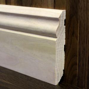 Плинтус фигурный из массива ясеня 100×18мм
