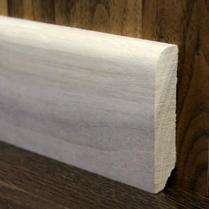Плинтус массивный прямой орех 70×15мм