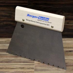 Профессиональный зубчатый шпатель для нанесения паркетного клея Berger Bond Zahnspachtel