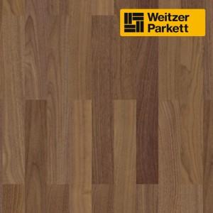 Трехполосная паркетная доска Weitzer Parkett WP Charisma 3 Stab Австрия Орех пропаренный select ProStrong