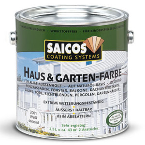 Краска для наружных и внутренних работ Saicos Haus & Garten-Farbe