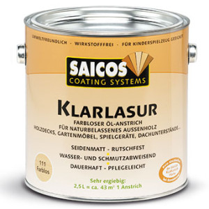 Прозрачная масляная лазурь Saicos Klarlasur