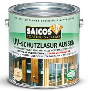 Защитная лазурь от УФ-лучей для наружных и внутренних работ Saicos UV-schutzlazur aussen
